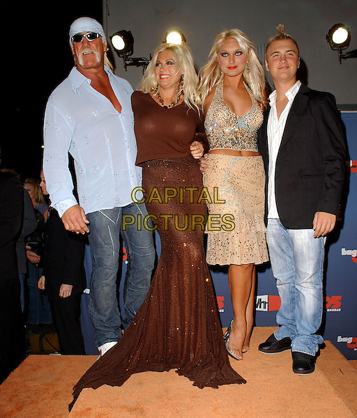 HULK, BROOKE, NICK & LINDA HOGAN.The VH1 Big In '05 Award Show held at The Sony Picture Studios in Culver City, California .December 3rd, 2005.Ref: DVS.full length family jeans denim blue shirt black jacket brown dress beige sequins.www.capitalpictures.com.sales@capitalpictures.com.Supplied By Capital PIctures