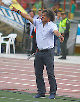 BUCARAMANGA -COLOMBIA, 14-08-2016. Alberto Gamero director técnico del Tolima.Acción de juego entre Bucaramanga y Tolima   durante encuentro  por la fecha 8 de la Liga Aguila II 2016 disputado en el estadio Alfonso ópez./ Alberto Gamero coach of Tolima. Actions game between  Bucaramanga and  Tolima during match for the date 8 of the Aguila League II 2016 played at Alfonso Lopez stadium . Photo:VizzorImage / Duncan Bustamante / Contribuidor