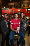 Kaladi Brothers management Dale Tran, Michelle Parkhurst & Tim Gravel at Kaladis on Jewel Lake