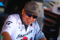 Jul. 26, 2014; Sonoma, CA, USA; NHRA funny car driver Cruz Pedregon during qualifying for the Sonoma Nationals at Sonoma Raceway. Mandatory Credit: Mark J. Rebilas-