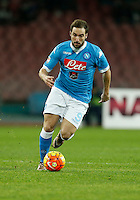 Napoli's  Gonzalo Higuain controls the ball during the  italian serie a soccer match,between SSC Napoli and Torino      at  the San  Paolo   stadium in Naples  Italy , January 07, 2016