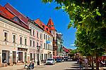 Kamienice na rynku w Pszczynie, Polska<br /> Tenements - marketplace in Pszczyna, Poland