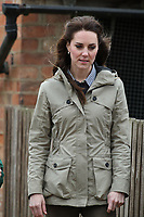 MAY 03 The Duchess of Cambridge visits Farms for City Children