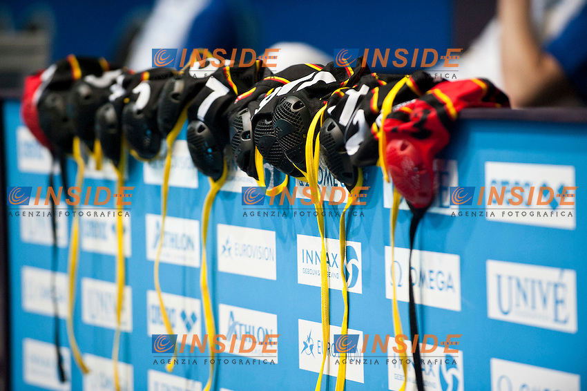 Eindhoven , Netherlands (Netherlands ) 24/1/2012.LEN European  Water Polo Championships 2012.Day 09 - Women.Great Britain in  (White) - GER (Blue)..GER.Team..Photo Insidefoto / Giorgio Scala