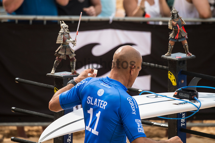 BANZAI PIPELINE, North Shore Oahu/Hawaii (Monday, December 19, 2016) kelly Slater (USA)  - The Final day of the Billabong Pipe Masters in Memory of Andy Irons, the final stop on the 2016 Samsung Galaxy World Surf League (WSL) Championship Tour (CT), was called ON this morning in four-to-six foot (1 - 2 metre) waves at the world-renowned Banzai Pipeline. The day started at 8:00 a.m. local time with Round 3 Heat 12 then ran to completion with Michel Bourez (PYF) winning with Kanoa Igarashi (USA)  in second place.<br /> The event also concludes the Vans Triple Crown of Surfing with the new world champion John John Florence winning his third Triple Crown of Surfing.Photo: joliphotos