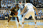 14 February 2016: Pittsburgh's Jamel Artis (1) and North Carolina's Justin Jackson (44). The University of North Carolina Tar Heels hosted the University of Pittsburgh Panthers at the Dean E. Smith Center in Chapel Hill, North Carolina in a 2015-16 NCAA Division I Men's Basketball game. UNC won the game 85-64.