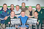 Launching the Listry 1970 O'Donoghue Cup winning team celebration dance which will be held in the Gleneagle Hotel in their clubhouse on Monday night was front row l-r: Noel Nennedy Chairman, Bernie Nolan 1970 team Captain, Anthony Clifford. Back row: John Joe Tangney, David Kennedy, John Wren, Jerome  Kennedy, Ted Ahern and Mike Kennedy
