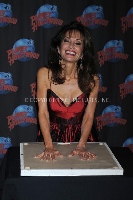 WWW.ACEPIXS.COM . . . . . ....December 18 2008, New York City....Actress Susan Lucci left her hand prints at Planet Hollywood....Please byline: KRISTIN CALLAHAN - ACEPIXS.COM.. . . . . . ..Ace Pictures, Inc:  ..tel: (212) 243 8787 or (646) 769 0430..e-mail: info@acepixs.com..web: http://www.acepixs.com