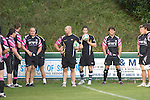 Mark Bennett Strength and Conditioning Coach taking the Ospreys rugby training at Llandarcy Institute of Sport near Neath aheah of their Heineken Cup match with Clermont Auvergne on Sunday..