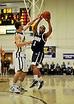 29 January 2012: University of New Hampshire Wildcat guard Garrett Jones, a Freshman from Chicago, IL, in action against the University of Vermont Catamounts at Patrick Gymnasium in Burlington, Vermont. The Catamounts defeated the Wildcats 77-60 in America East play. Mandatory Credit: Ed Wolfstein Photo