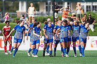 Boston, MA - Saturday July 01, 2017: Boston Breakers celebrate Margaret Purce's first professional goal during a regular season National Women's Soccer League (NWSL) match between the Boston Breakers and the Washington Spirit at Jordan Field.