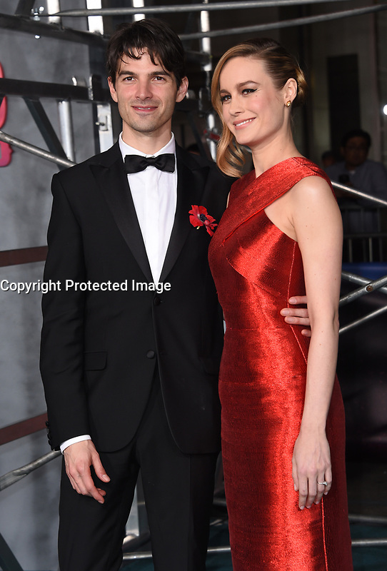Brie Larson + fiance Alex Greenwald @ the Los Angeles premiere of 'Kong: Skull Island' held @ the Dolby theatre.<br /> March 8, 2017 , Hollywood, USA. # PREMIERE DU FILM 'KONG : SKULL ISLAND' A LOS ANGELES