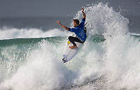 Huntington Beach, CA - Saturday August 05, 2017: Davey Cathels during a World Surf League (WSL) Qualifying Series (QS) fifth round heat in the 2017 Vans US Open of Surfing on the South side of the Huntington Beach pier.