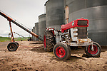 c. 1969 Massey Ferguson 1130 tractor used to power grain auger at a farm in Washington's Palouse.
