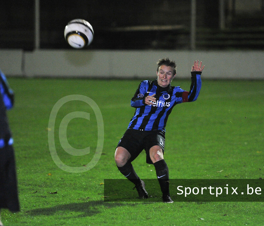 Club Brugge Vrouwen - OHL Dames : Christine Saelens <br /> foto David Catry / nikonpro.be