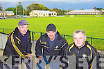 VANDALISM: Members of the Listowel Emmets pitch committee who are appealing to vandals to stop attacking the club headquarters, l-r: Mike Salmon, Martin Scanlon, Tadhg Moriarty.