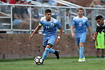 ELON, NC - AUGUST 25: North Carolina's David October (ENG). The University of North Carolina Tar Heels hosted the Providence College Friars on August 25, 2017 at Rudd Field in Elon, NC in a Division I college soccer game. UNC won the game 4-2.