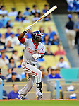 22 July 2011: Washington Nationals outfielder Roger Bernadina in action against the Los Angeles Dodgers at Dodger Stadium in Los Angeles, California. The Nationals defeated the Dodgers 7-2 in their first meeting of the 2011 season. Mandatory Credit: Ed Wolfstein Photo