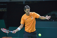 Switserland, Genève, September 16, 2015, Tennis,   Davis Cup, Switserland-Netherlands, Practise Dutch team, Jesse Huta Galung<br /> Photo: Tennisimages/Henk Koster