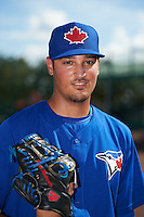 Toronto Blue Jays pitcher Daniel Young (25) poses for a photo after an instructional league game against the Atlanta Braves on September 30, 2015 at the ESPN Wide World of Sports Complex in Orlando, Florida.  (Mike Janes/Four Seam Images)