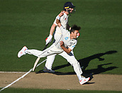 25th March 2018, Auckland, New Zealand;  Trent Boult bowling.<br /> New Zealand versus England. 1st day-night test match. Eden Park, Auckland, New Zealand. Day 4