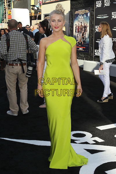 "Julianne Hough.World Film Premiere of New Line Cinemas' ""Rock of Ages"" at Grauman's Chinese Theatre. Hollywood, CA USA. June 8, 2012..full length  neon yellow one shoulder dress long maxi fluorescent slash green.CAP/CEL.©CelPh/Capital Pictures..."