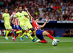 Atletico de Madrid's Joao Felix during La Liga match. Aug 18, 2019. (ALTERPHOTOS/Manu R.B.)Atletico de Madrid's Joao Felix seen in action during the Spanish La Liga match between Atletico de Madrid and Getafe CF at Wanda Metropolitano Stadium in Madrid, Spain