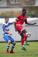 Lion Docaj of Ilford and Junior Appiah of Walthamstow during Ilford vs Walthamstow, Essex Senior League Football at Cricklefields Stadium on 6th October 2018