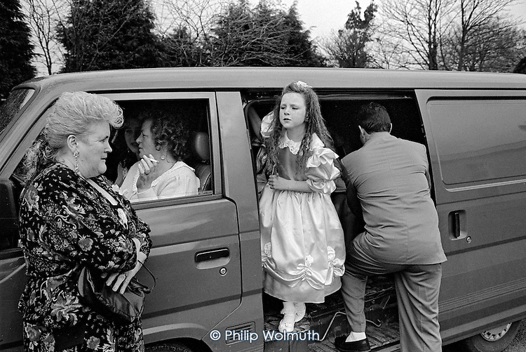 Theresa Gaffey's wedding, Dundalk, Ireland.  From the book: MOVING STORIES: Traveller Women Write
