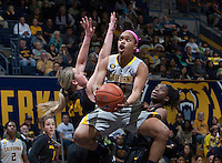 Brittany Boyd of California shoots the ball during the game against Arizona State at Haas Pavilion in Berkeley, California on February 16th, 2014.  California defeated Arizona State, 74-63.