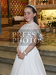 Presley Rae from Scoil Aonghuasa who recieved First Holy Communion at St. Peter's church. Photo:Colin Bell/pressphotos.ie