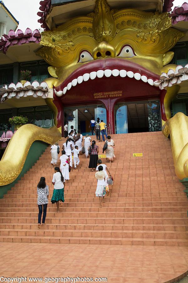 People at Dambulla Buddhist museum complex, Sri Lanka, Asia