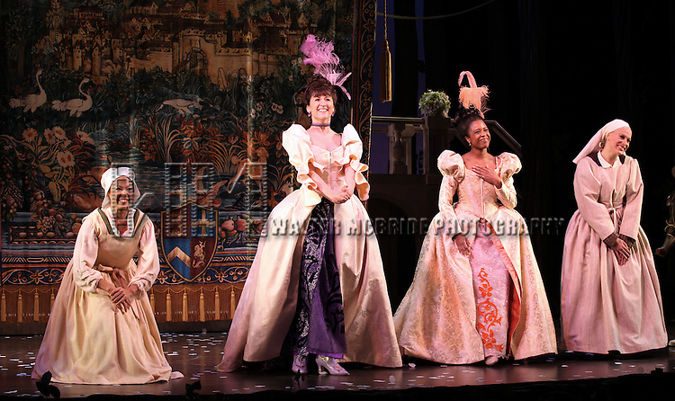 Ensemble Cast during The Broadway Opening Night Performance Curtain Call for  'Rogers + Hammerstein' s Cinderella' at the Broadway Theatre in New York City on 3/3/2013
