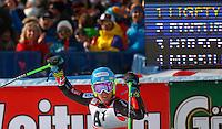 SOELDEN, AUSTRIA, 27.10.2013 - COPA DO MUNDO DE ESQUI ALPINO -  Ted Ligety dos Estados Unidos comemora apos vitoriadurante execução do Audi FIS Copa do Mundo de Esqui Alpino, corrida de slalom gigante em Soelden na Austria , neste domingo, 27. (Foto: Primoz Jeroncic / Pixathlon / Brazil Photo Press).