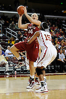 January 8, 2010.  Stanford's Joslyn Tinkle in action against USC.  Stanford defeated USC, 82-62.LOS ANGELES, CA - JANUARY 8:  Joslyn Tinkle of the Stanford Cardinal during Stanford's 82-62 win against the USC Trojans on January 8, 2010 at the Galen Center in Los Angeles, California.