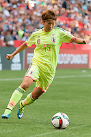 June 12, 2015: Yuika SUGASAWA of Japan controls the ball during a Group C match at the FIFA Women's World Cup Canada 2015 between Cameroon and Japan at BC Place Stadium on 12 June 2015 in Vancouver, Canada. Japan won 2-1. Sydney Low/AsteriskImages