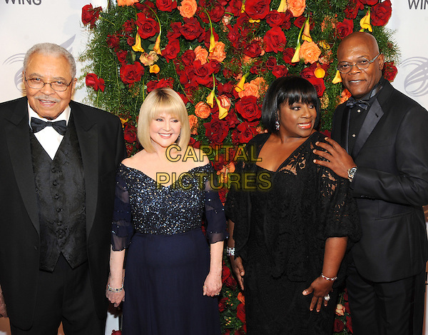 NEW YORK, NY - SEPTEMBER 28: James Earl Jones, Cecilia Hart. LaTanya Richardson and Samuel L. Jackson  attends the 2015 American Theatre Wing's Gala at The Plaza Hotel on September 28, 2015 in New York City..<br /> CAP/MPI/STV<br /> &copy;STV/MPI/Capital Pictures