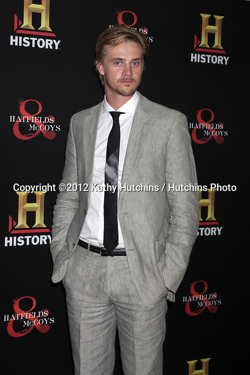 "LOS ANGELES - SEP 22:  Boyd Holbrook arrives at the ""HATFIELDS & McCOYS"" Pre-Emmy Party. at SOHO Club on September 22, 2012 in West Hollywood, CA"