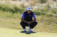 Pedro Oriol (ESP) on the 6th green during Friday's Round 2 of the 2018 Dubai Duty Free Irish Open, held at Ballyliffin Golf Club, Ireland. 6th July 2018.<br /> Picture: Eoin Clarke | Golffile<br /> <br /> <br /> All photos usage must carry mandatory copyright credit (&copy; Golffile | Eoin Clarke)