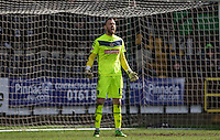 Goalkeeper Scott Loach of Notts County makes a rare League appearance during the Sky Bet League 2 match between Notts County and Wycombe Wanderers at Meadow Lane, Nottingham, England on 28 March 2016. Photo by Andy Rowland.