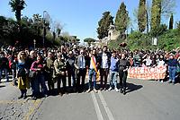 Roma, 22 Marzo 2019<br /> Amedeo Ciaccheri.<br /> Corteo di studenti e associazioni fino al Mausoleo delle Fosse Ardeatine per il 75°anniversario della strage