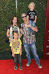 Brett Scallions and family attends the John Varvatos 11th Annual Stuart House Benefit held in West Hollywood CA. April 13, 2014.