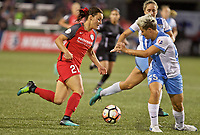 Portland, OR - Saturday August 19, 2017: Hayley Raso, Janine Van Wyk during a regular season National Women's Soccer League (NWSL) match between the Portland Thorns FC and the Houston Dash at Providence Park.