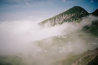 clouds rolling in up the last climb of the 2018 Tour: the Col d'Aubisque (HC/1709m/16.6km@4.9%)<br /> <br /> Stage 19: Lourdes > Laruns (200km)<br /> <br /> 105th Tour de France 2018<br /> ©kramon