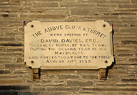 Pictured: The plaque for the clock tower of the Guildhall<br /> Re: The town of Cardigan in west Wales will be temporarily renamed Jumper tomorrow (Thursday).