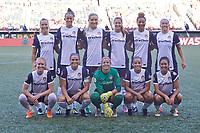 Portland, OR - Saturday July 22, 2017: Washington Spirit starting 11 before a regular season National Women's Soccer League (NWSL) match between the Portland Thorns FC and the Washington Spirit at Providence Park.