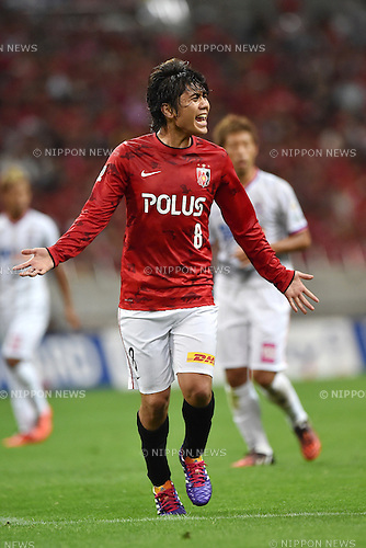 Yosuke Kashiwagi (Reds),<br /> AUGUST 16, 2014 - Football / Soccer :<br /> 2014 J.League Division 1 match between Urawa Red Diamonds 1-0 Sanfrecce Hiroshima at Saitama Stadium 2002 in Saitama, Japan. (Photo by AFLO)