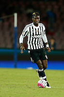 Juventus' Paul Pogba   controls the ball during the  italian serie a soccer match against    SSc     at  the San  Paolo   stadium in Naples  Italy , September 26 , 2015