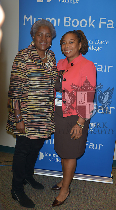 MIAMI, FL - NOVEMBER 15: Donna Brazile and Pascale Charlot J.D. attend The Miami Book Fair at Miami Dade College Wolfson - Chapman Conference Center on November 15, 2017 in Miami, Florida. ( Photo by Johnny Louis / jlnphotography.com )