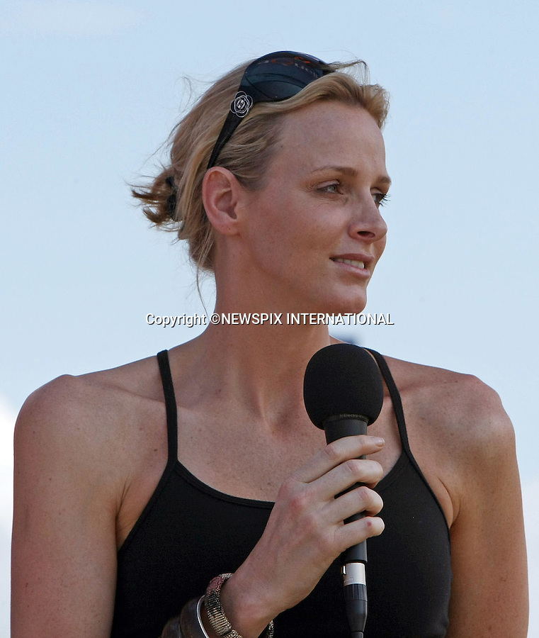 """CHARLENE WITTSTOCK.presented the trophy and medals at the prize giving ceremony of the Midmar Mile, Pietermaritzburg, KwaZulu-Natal, South Africa.The Midmar Mile is the world's largest open water swim event, South Africa_13/02/2011.Mandatory Credit Photos: ©Newspix International..**ALL FEES PAYABLE TO: """"NEWSPIX INTERNATIONAL""""**..PHOTO CREDIT MANDATORY!!: NEWSPIX INTERNATIONAL(Failure to credit will incur a surcharge of 100% of reproduction fees)..IMMEDIATE CONFIRMATION OF USAGE REQUIRED:.Newspix International, 31 Chinnery Hill, Bishop's Stortford, ENGLAND CM23 3PS.Tel:+441279 324672  ; Fax: +441279656877.Mobile:  0777568 1153.e-mail: info@newspixinternational.co.uk."""